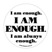 she_sez_decal-collection_120mm_-_i_am_enough
